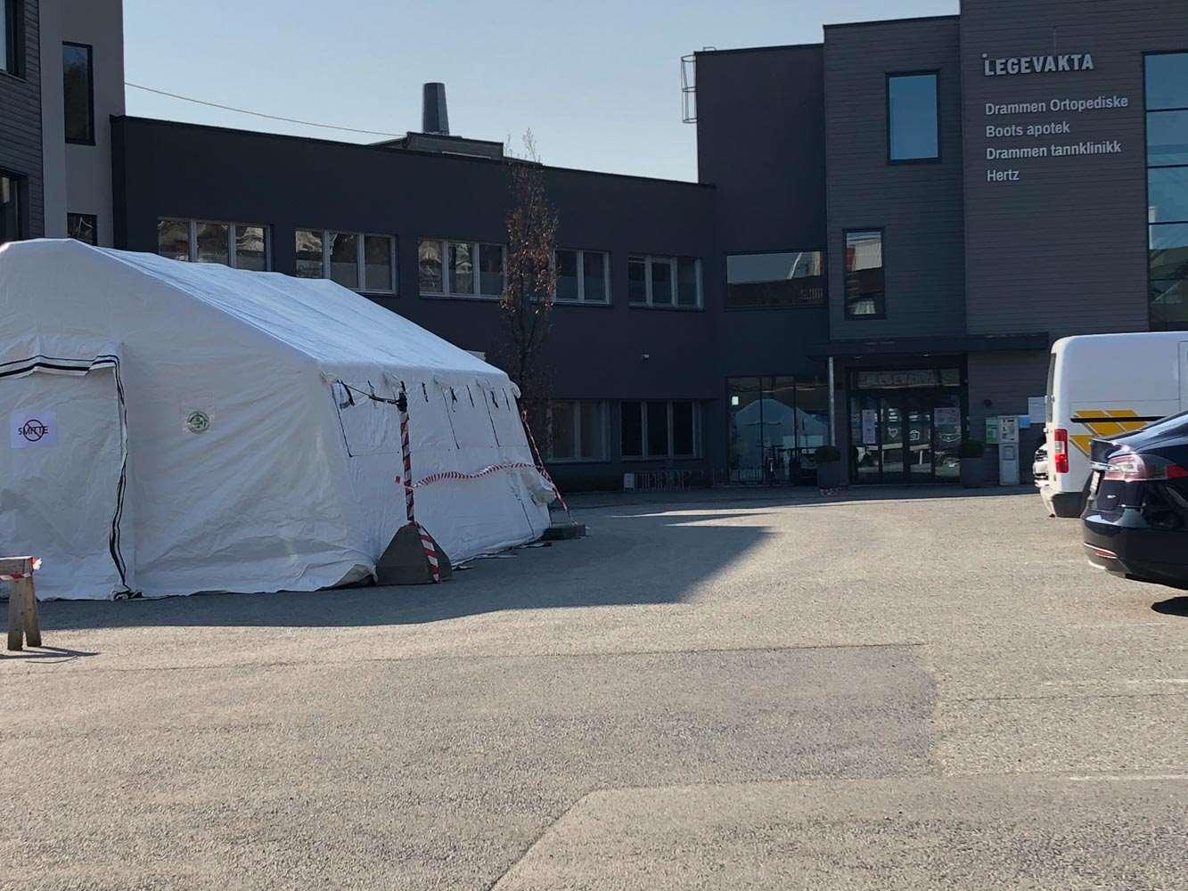 Telt Pa Legevakten Drammen Kommune