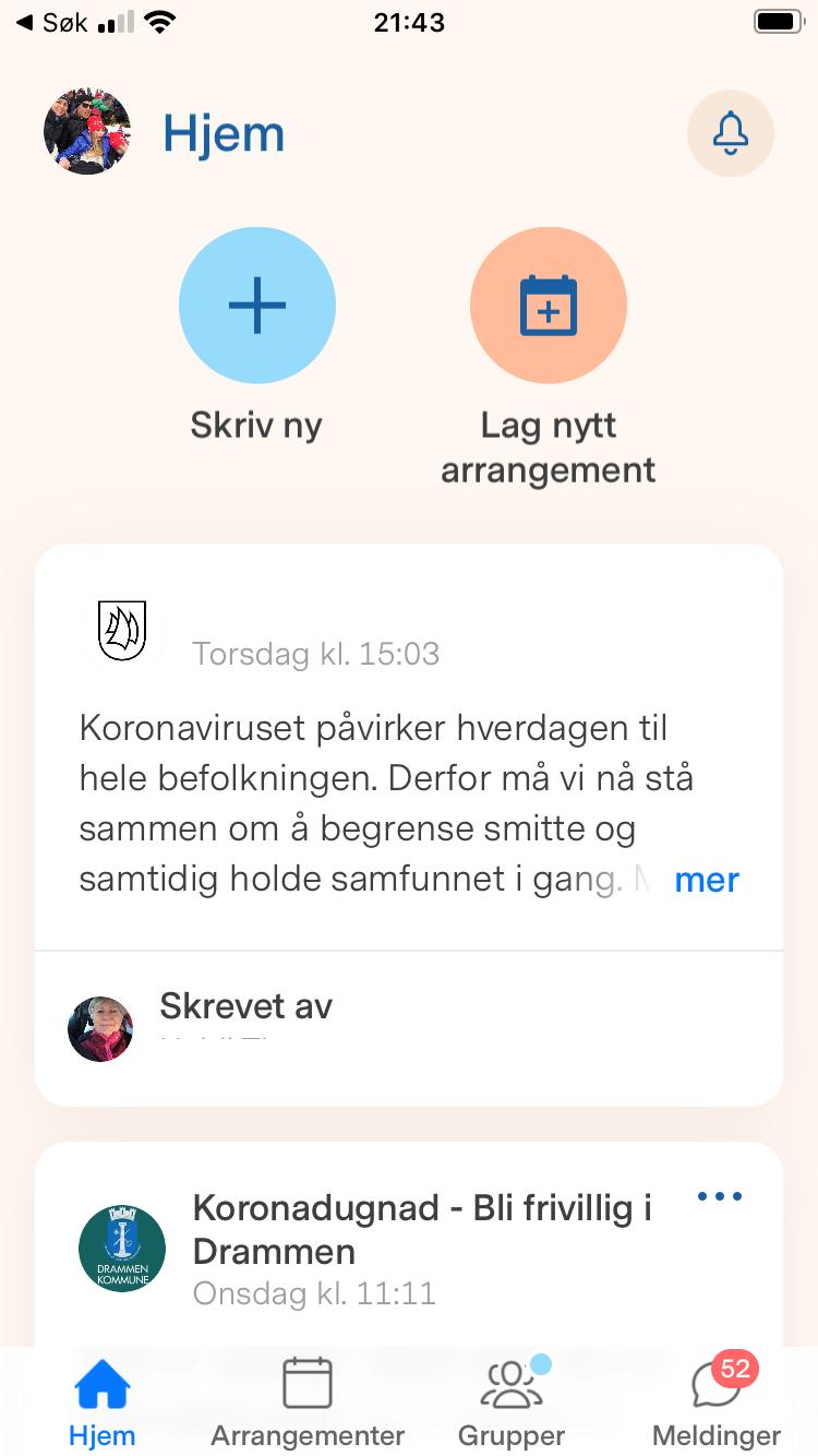 Slik Bruker Du Nyby Appen For A Be Om Hjelp Drammen Kommune